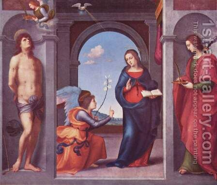 Annunciation by Mariotto Albertinelli - Reproduction Oil Painting