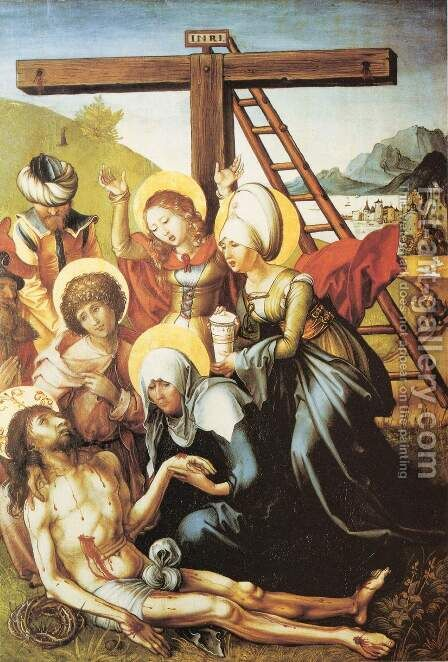 The Seven Sorrows of Mary, middle panel by Albrecht Durer - Reproduction Oil Painting