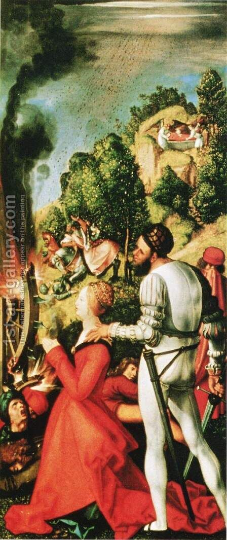 Heller-Altar, right wing, scene of the martyrdom of St. Catherine by Albrecht Durer - Reproduction Oil Painting
