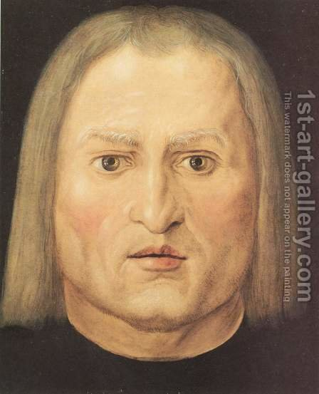 Head of a man by Albrecht Durer - Reproduction Oil Painting