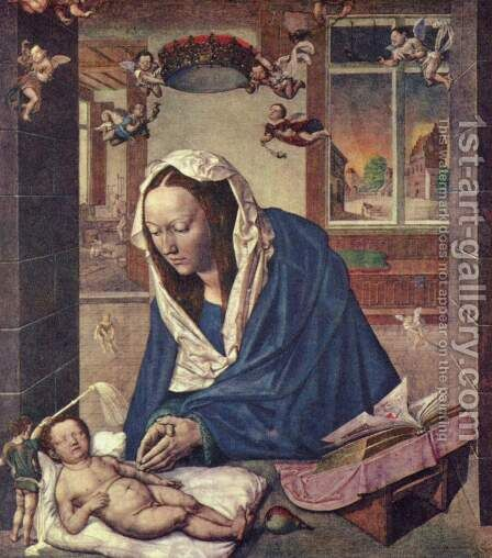 Madonna and Child 2 by Albrecht Durer - Reproduction Oil Painting