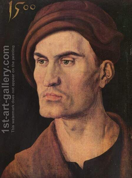Portrait of a young man 6 by Albrecht Durer - Reproduction Oil Painting