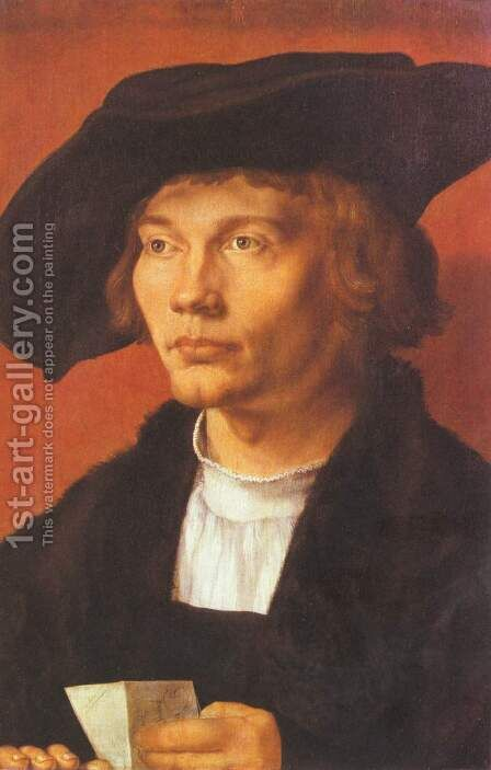 Portrait of a young man (portrait of Berne Hart van Resten) by Albrecht Durer - Reproduction Oil Painting