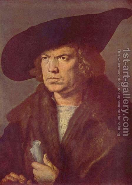 Portrait of an unknown by Albrecht Durer - Reproduction Oil Painting