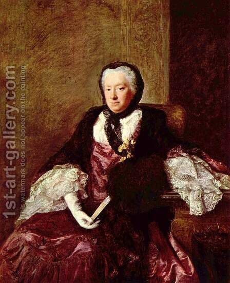 Portrat der Mary Atkins (Mrs. Martin) by Allan Ramsay - Reproduction Oil Painting