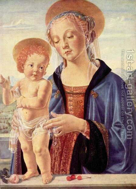 Madonna and child 2 by Andrea Del Verrocchio - Reproduction Oil Painting