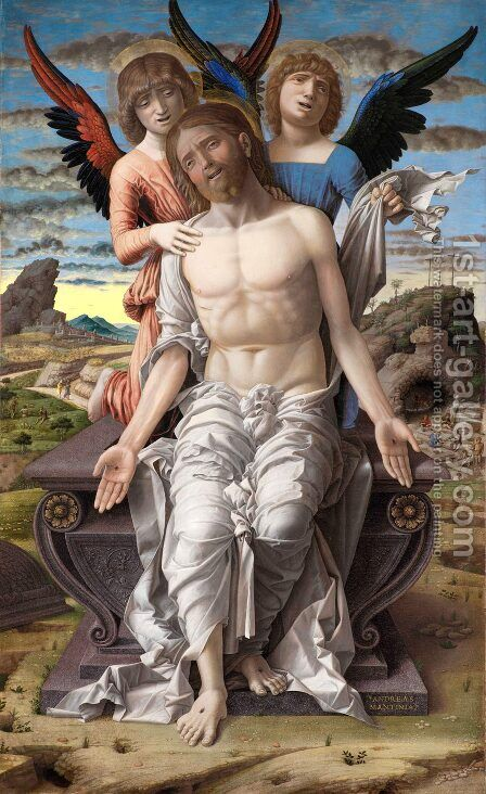 Christ as Man of Sorrows by Andrea Mantegna - Reproduction Oil Painting