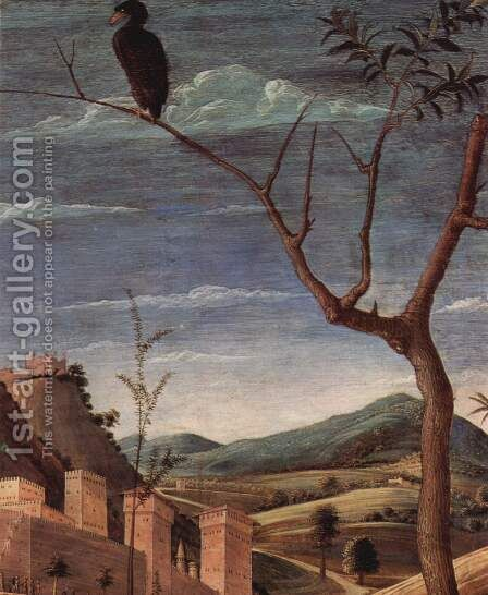 Christ on the Mount of Olives to the Garden of Gethsemane, detailed city landscape by Andrea Mantegna - Reproduction Oil Painting