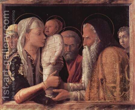 The presentation in the Temple by Andrea Mantegna - Reproduction Oil Painting