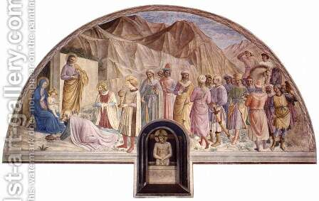 Frescoes in the Dominican convent of San Marco in Florence scene Adoration of the Kings by Angelico Fra - Reproduction Oil Painting
