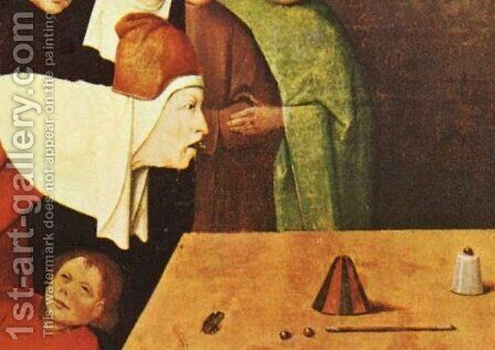 The Conjurer [detail]. by (after) Hieronymus Bosch - Reproduction Oil Painting