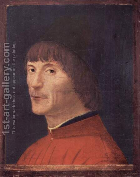 Portrait of a Man 4 by Antonello da Messina Messina - Reproduction Oil Painting