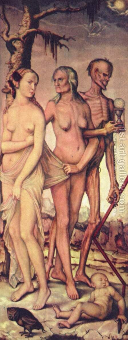 The ages of life and death by Hans Baldung  Grien - Reproduction Oil Painting