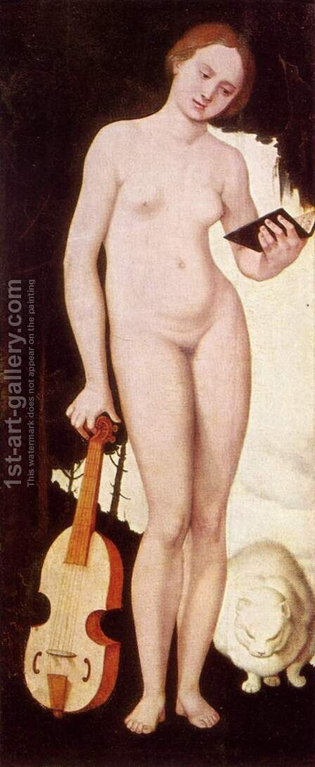 Woman with Cat (Allegory of Music) by Hans Baldung  Grien - Reproduction Oil Painting