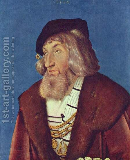 Portrait of a Bearded Man by Hans Baldung  Grien - Reproduction Oil Painting