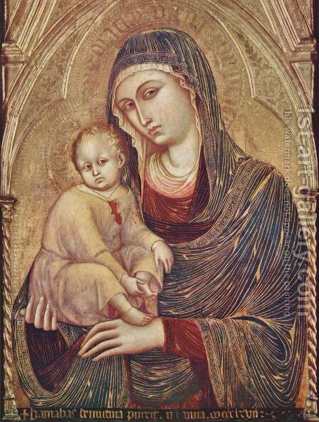Madonna and Child by Barnaba Da Modena - Reproduction Oil Painting