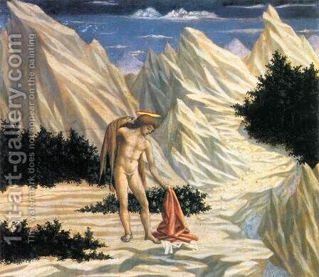 St John in the Wilderness (predella 2) c. 1445 by Domenico Veneziano - Reproduction Oil Painting