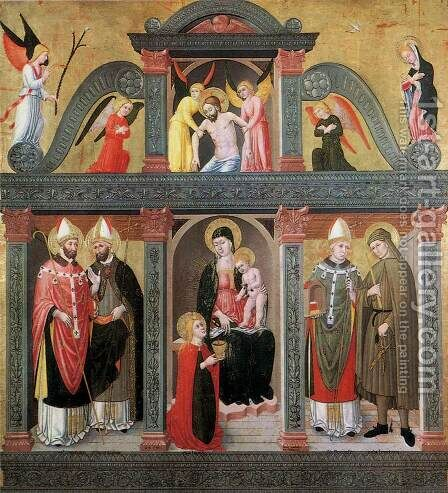 St Lucy Altarpiece (Pala Di S. Lucia) 1500 by Domenico Da Tolmezzo - Reproduction Oil Painting