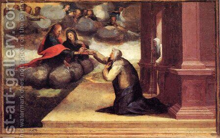 Mystical grinding of St. Catherine with Christ by Domenico Beccafumi - Reproduction Oil Painting