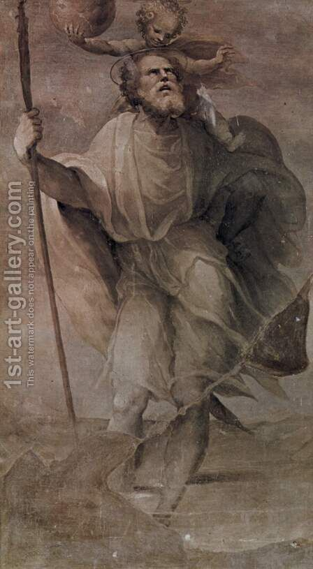 St. Christopher by Domenico Beccafumi - Reproduction Oil Painting