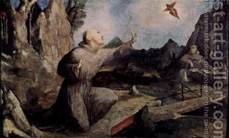 St. Francis receives the stigmata by Domenico Beccafumi - Reproduction Oil Painting