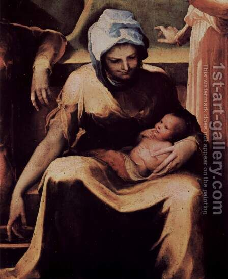 Mary's Birth, detail by Domenico Beccafumi - Reproduction Oil Painting