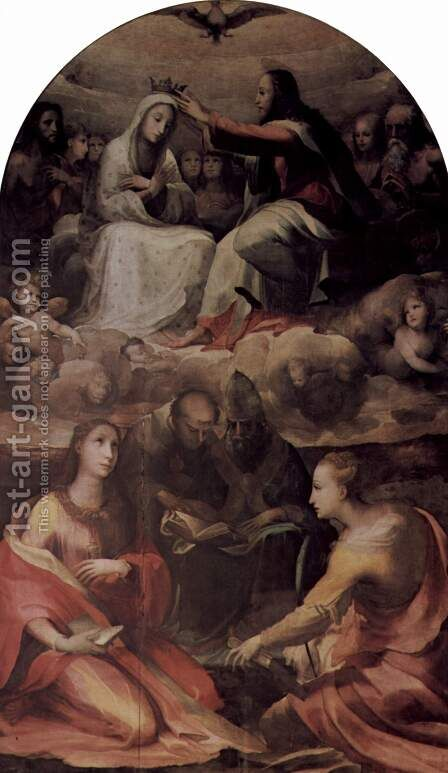 Mary's coronation with Saints by Domenico Beccafumi - Reproduction Oil Painting