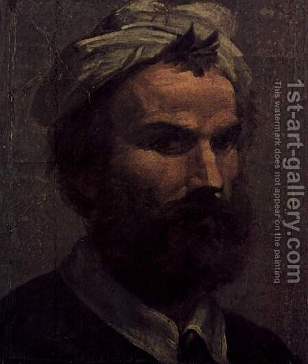 Self portrait by Domenico Beccafumi - Reproduction Oil Painting