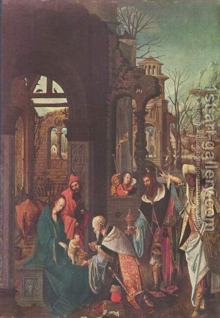 Adoration of the Kings by Jan de Beer - Reproduction Oil Painting