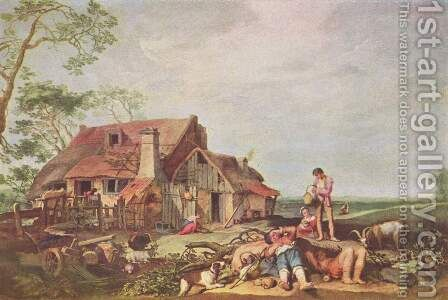 Farm by Abraham Bloemaert - Reproduction Oil Painting