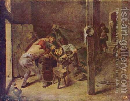 The fight by Adriaen Brouwer - Reproduction Oil Painting