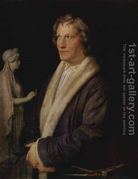Portrait of the Danish sculptor Bertel Thorvaldsen by Carl the Elder Begas - Reproduction Oil Painting