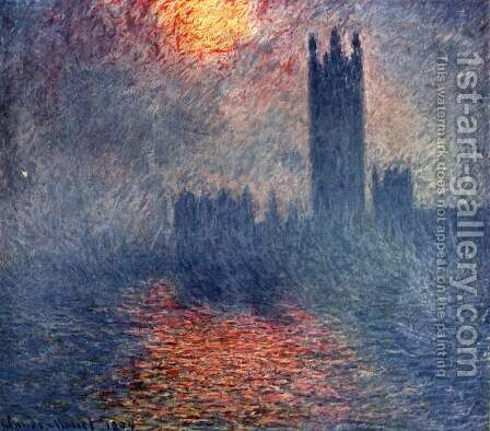 Houses of Parliament, Sunset by Claude Oscar Monet - Reproduction Oil Painting