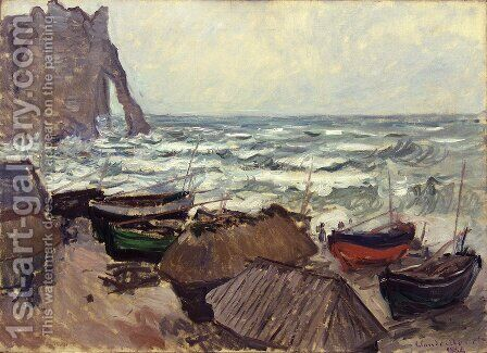 Perforated rock in Etretat by Claude Oscar Monet - Reproduction Oil Painting