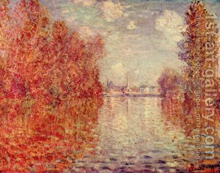 Autumn in Argenteuil by Claude Oscar Monet - Reproduction Oil Painting