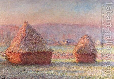 Haystack 2 by Claude Oscar Monet - Reproduction Oil Painting