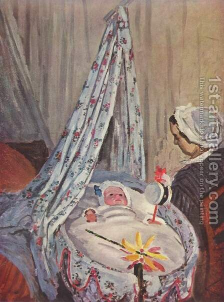 Jean Monet in his crib by Claude Oscar Monet - Reproduction Oil Painting