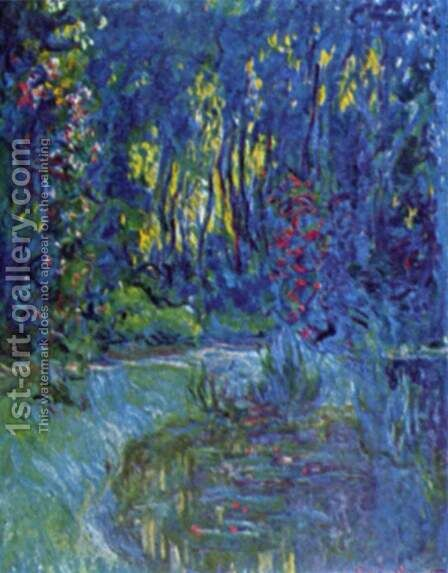 Water garden at Giverny 2 by Claude Oscar Monet - Reproduction Oil Painting