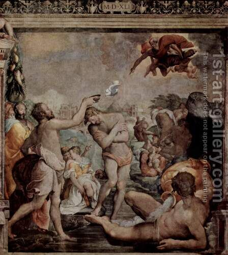 The Baptism of Christ by Jacopino del Conte - Reproduction Oil Painting