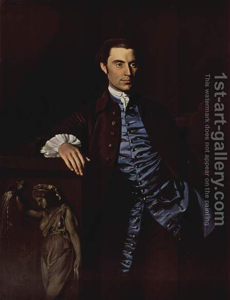 Portrait of Thaddeus Burr by John Singleton Copley - Reproduction Oil Painting