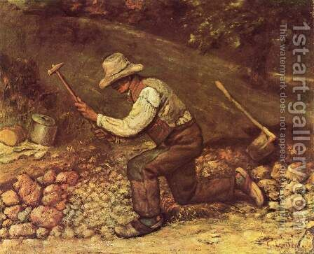 Stonemason by Gustave Courbet - Reproduction Oil Painting