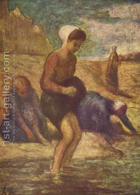 Bathing girl by Honoré Daumier - Reproduction Oil Painting