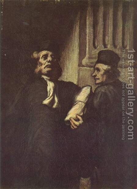 Two advocates by Honoré Daumier - Reproduction Oil Painting