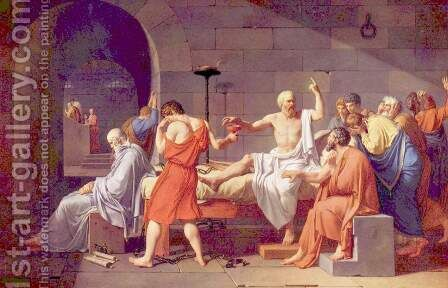 Death of Socrates by Jacques Louis David - Reproduction Oil Painting