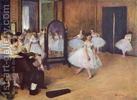 The dance hall by Edgar Degas - Reproduction Oil Painting