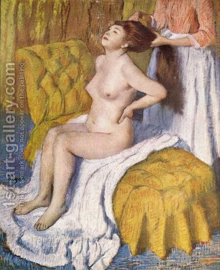 Body care by Edgar Degas - Reproduction Oil Painting