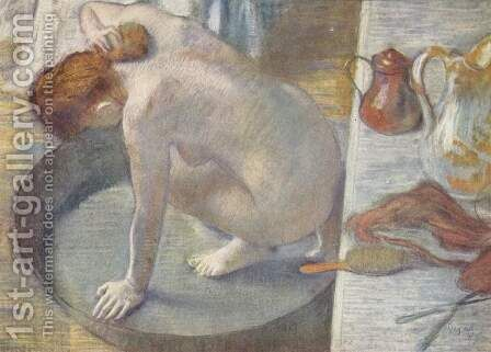 Woman with the woman in the tub, washing his back by Edgar Degas - Reproduction Oil Painting