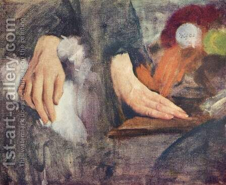 Hand study by Edgar Degas - Reproduction Oil Painting