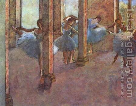 Dancers in the Foyer 2 by Edgar Degas - Reproduction Oil Painting