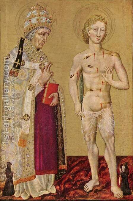 St. Fabian and St. Sebastian by Giovanni di Paolo - Reproduction Oil Painting